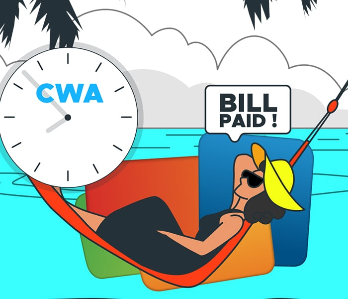 Pay Your 💧💧 Bill On-Time-Every-Time! (CWA)