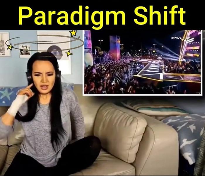 Changement de paradigme illustré par la musique.